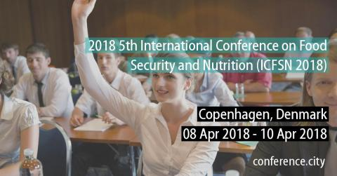 5Th International Conference on Food Security and Nutrition