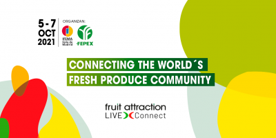 05-07 octubre 2021.Connecting the world`s fresh produce community. Fruit Attraction. Live-Connect.