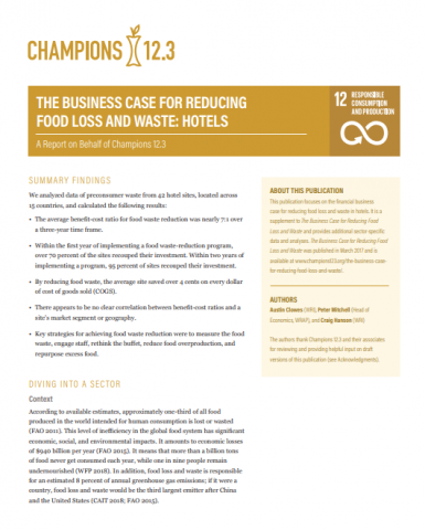 Reducing food loss and waste_hotels_WRI