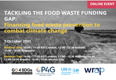 Tackling the food waste funding GAP: Financing food waste prevention to combat climate change. Online. 7 october 2021