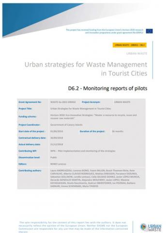 Urban strategies for Waste Management in Tourist Cities