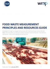 Food waste measurement principles and resources guide. WRAP.2018.