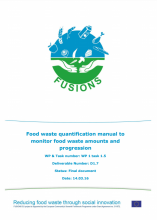 Food waste quantification manual to monitor food waste amounts and progression