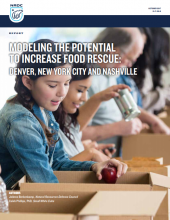 Modeling the potential to increase food rescue