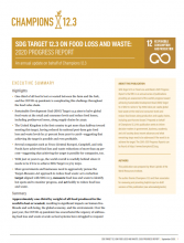 SDG Target 12_3 on Food Loss and Waste_ 2020 Progress Report